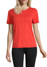 Casall Textured Loose Tee Sunset Red