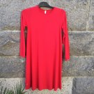 By Basics Bamboo Dress A-Line L/S Chili Red