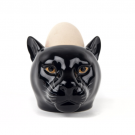 Quail Ceramics Panther Face Egg Cup