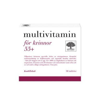 New Nordic Multivitamin för Kvinnor 55+  90 tabletter