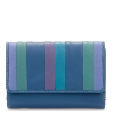 mywalit Medium Trifold w/ Outer Zip Purse Blue