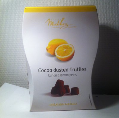 Mathez Cocoa Dusted Truffles - Lemon