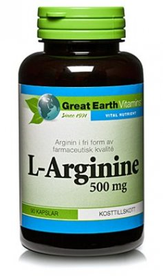 Great Earth L-Arginine 500mg  90 tabletter