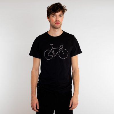 Dedicated Stockholm Text Bike Black