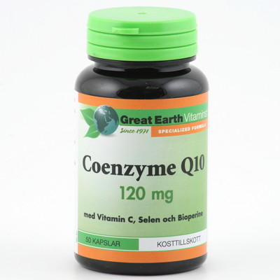 Great Earth Coenzyme Q10 120mg 50k