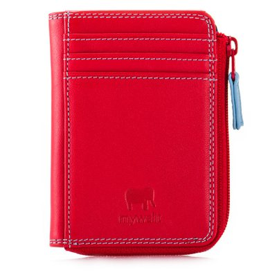 mywalit RFID Small Zip Purse Red