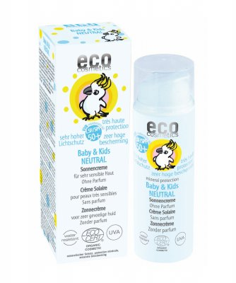 Eco Cosmetics Baby solkräm 50+ neutral EKO, 50ml
