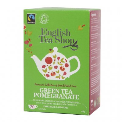 English Tea Shop Green Tea Pomegranate 20 påsar