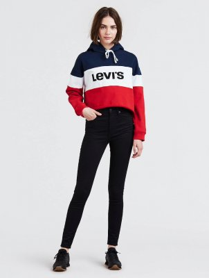 Levi's Mile High Super Skinny Black Galaxy