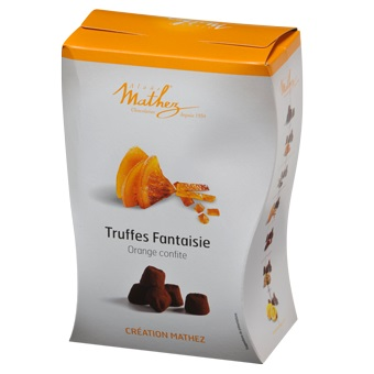 Mathez Cocoa Dusted Truffles - Candied Orange