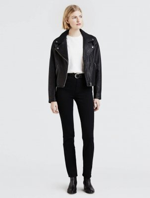 Levi's 724 High Rise Straight Black Sheep