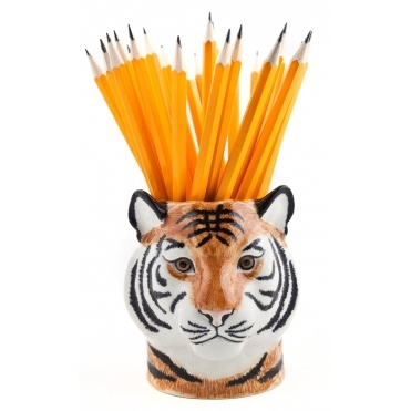 Quail Ceramics Tiger Pencil Pot