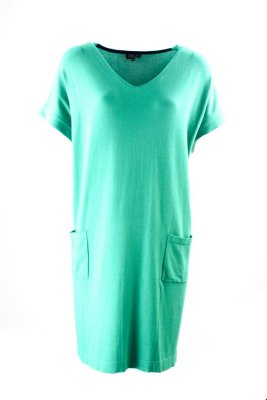 Zilch Dress V-Neck Emerald